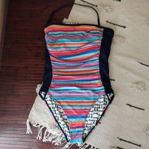 Anne Cole Striped Reversible One Piece Swimsuit 14